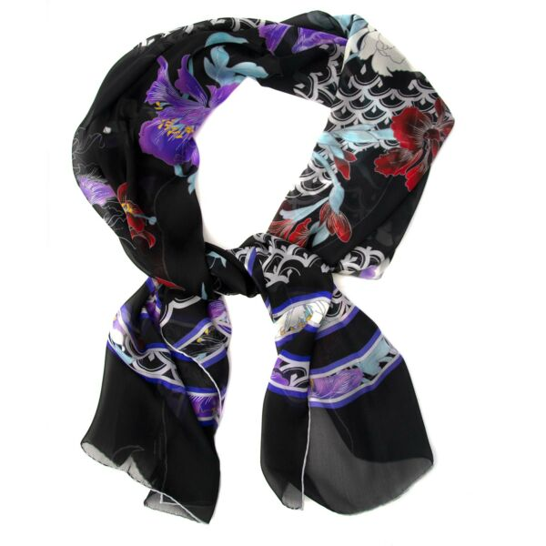 Buy your authentic Leonard Black Floral Scarf at Labellov