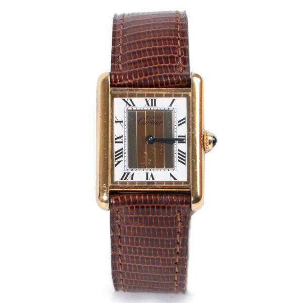 Cartier Must de Cartier Tank Quartz Watch for the best price online at Labellov
