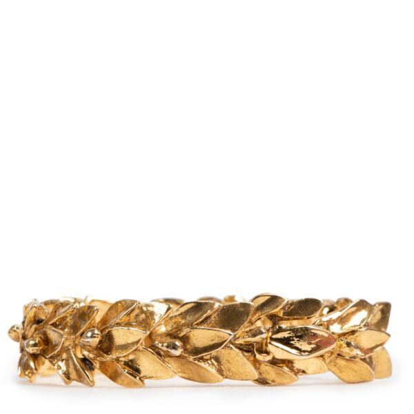 shop safe online Yves Saint Laurent Gold Plated Vintage Bracelet at the best price