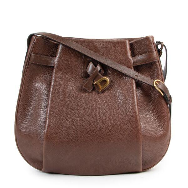 Veilig online kopen van authentieke bruine Delvaux handtas bij Labellov.com.
