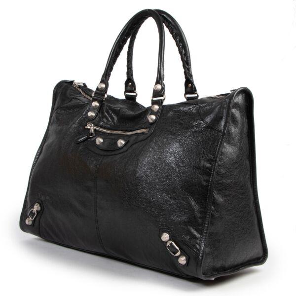 Balenciaga Black Leather Giant Vélo XL Bag