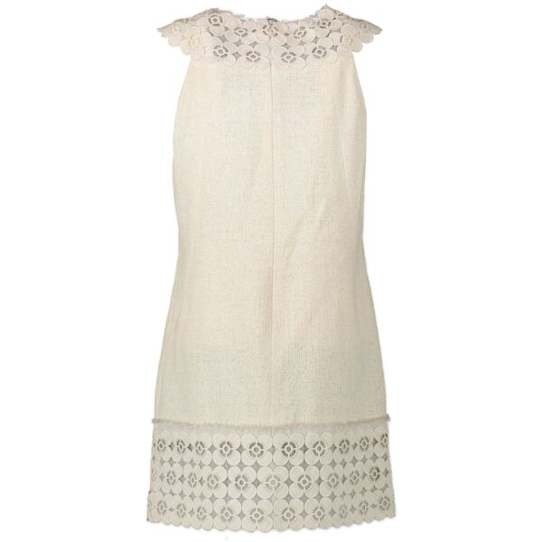 Chanel White Tweed Dress - Size 40