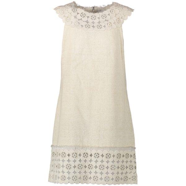 Buy safe online second hand Chanel tweed dress in beige.