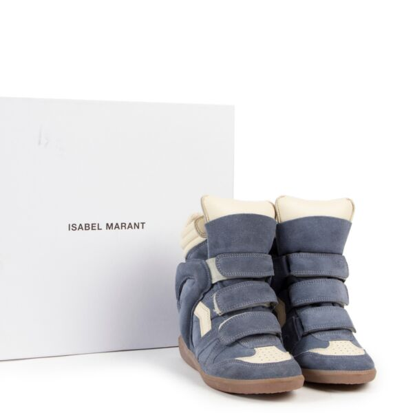 Isabel Marant Baby Blue Suede Bekett Sneakers - Size 35