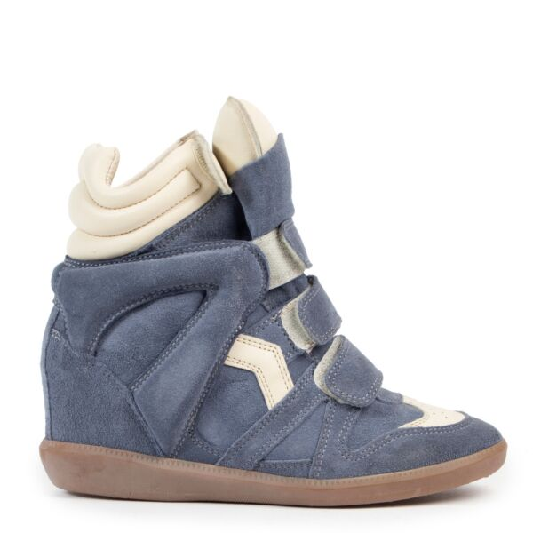 Isabel Marant Blue Beckett Sneakers for the best price at Labellov secondhand luxury in Antwerp