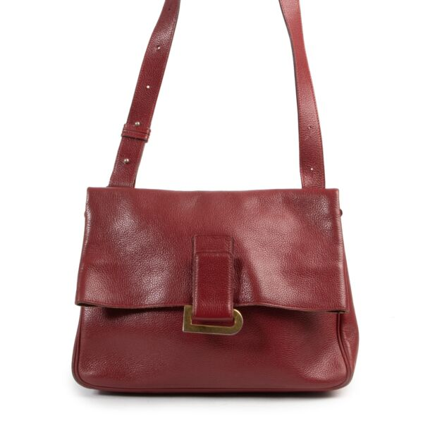 Delvaux Burgundy Passerelle Shoulder Bag