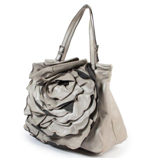 Valentino Grey Leather Shoulder Bag