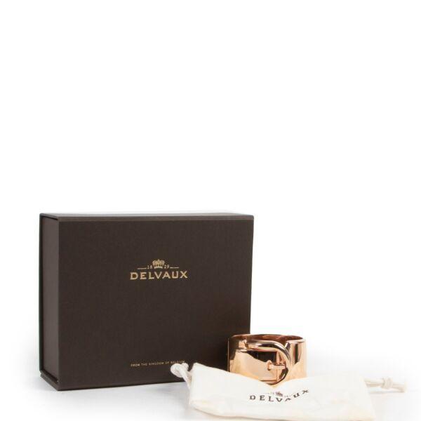 Delvaux Gold Metallic Ceinture Bracelet