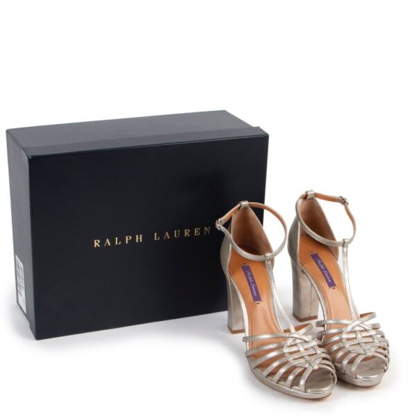 Ralph Lauren Silver Pumps - Size 39