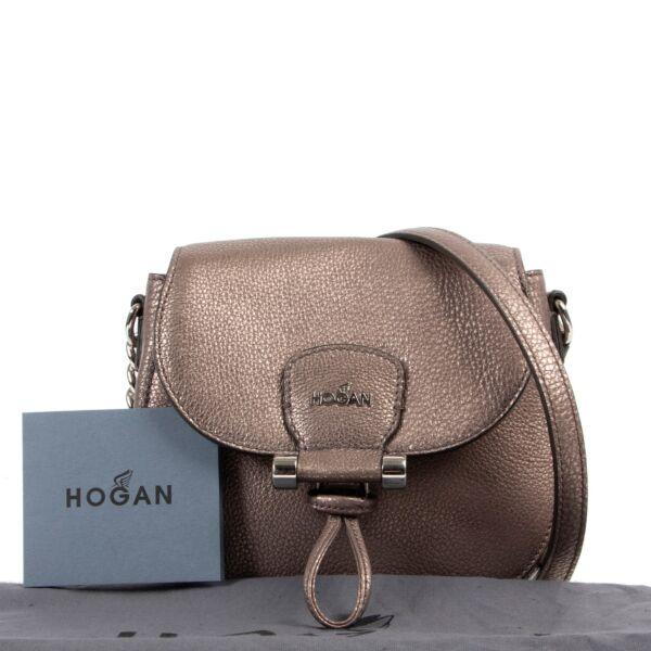 Hogan Bronze Metallic Crossbody
