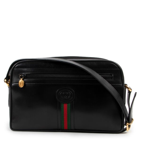 Gucci Black Leather Crossbody