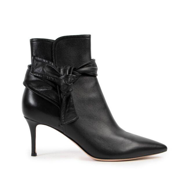 Gianvitto Rossi Nappa Black Lane Mid Boots - Size 39