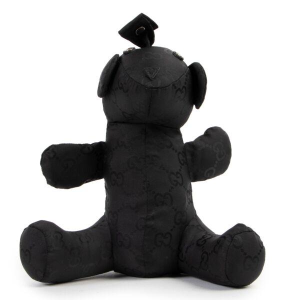Gucci Black Monogram Shoulder Tote Bag