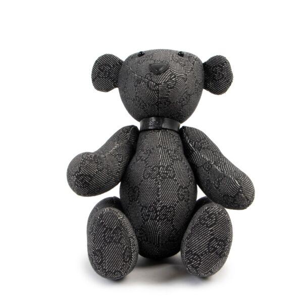 Gucci Black Grey Teddy Bear
