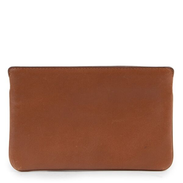 Delvaux Brown Calfskin Leather Wallet