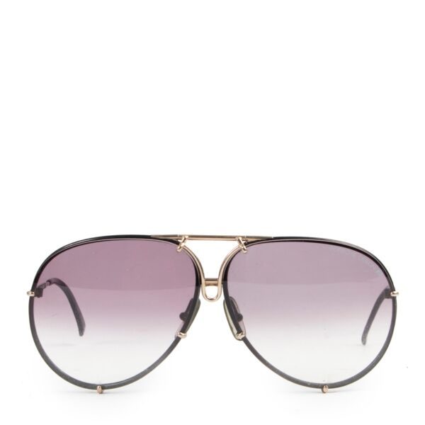 Shop safe online 100% authentic second hand Porsche Carrera Pilot Black Sunglasses in good preloved condition at the right price at Labellov in Antwerp.