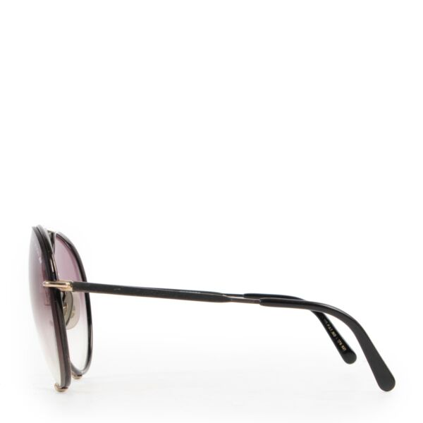 Porsche Carrera Pilot Black Sunglasses