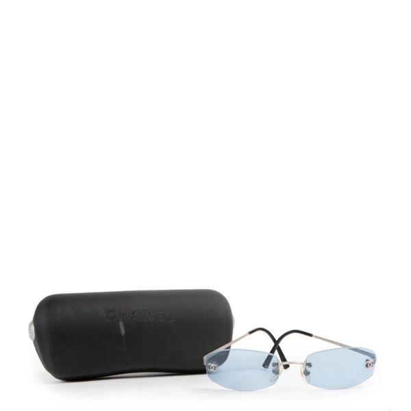 Chanel Blue Retro Sunglasses