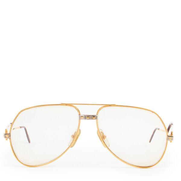 Cartier Santos Gold Glasses