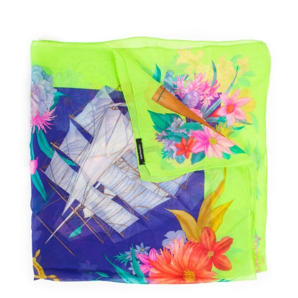 Online kopen van Leonard meerkleurige zijde sjaal op een veilige manier.