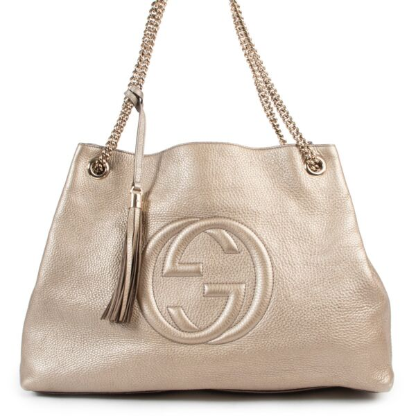 shop safe online Very good preloved condition  Gucci Soho Large  Shopper Bag