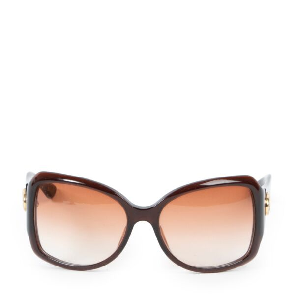 Shop safe online second hand Gucci Brown Sunglasses.