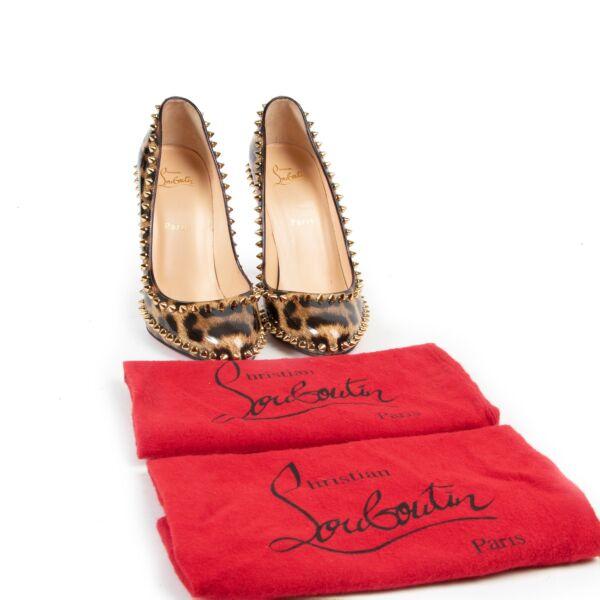 Christian Louboutin Leopard Patent Leather Dorispiky Pumps - Size 40