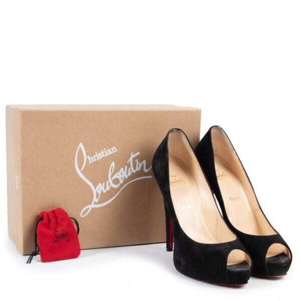 Christian Louboutin Black Veau Velours Vendome Pumps - Size 41