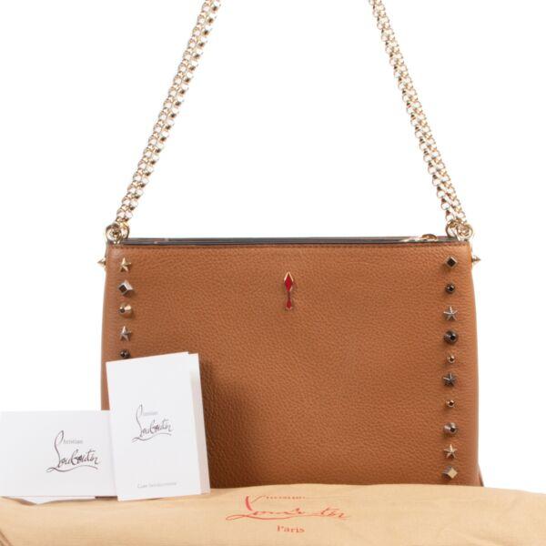 Christian Louboutin Cognac Spike  Shoulder Bag
