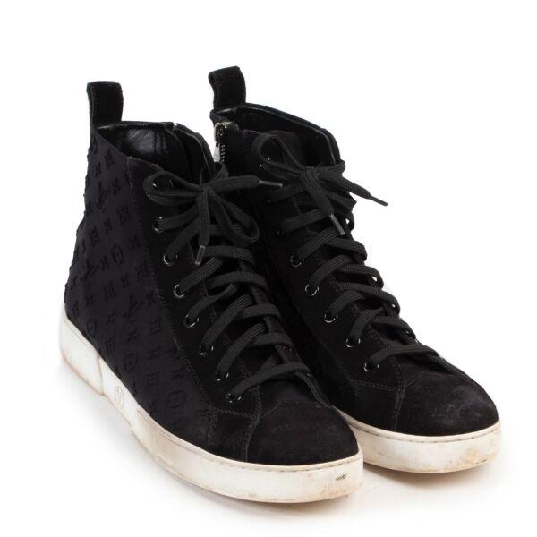 Louis Vuitton Stellar Black Ankle Sneakers - Size 39