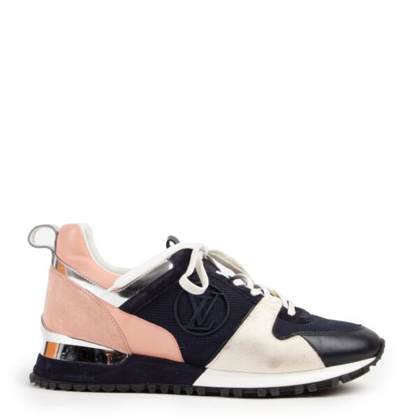 Shop safe online at Labellov for the best price. shop safe online your secondhand designer shoes such as these Louis Vuitton Runaway Sneakers Navy and Pink.