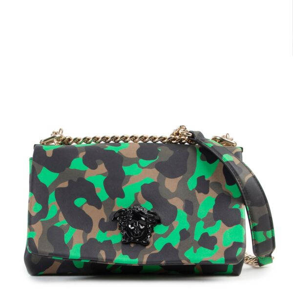 Shop online authentic Versace Green Camouflage Palazzo Empire Crossbody Bag at the right price.