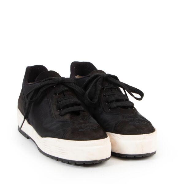 Chanel Black Nylon Sneakers - Size 39