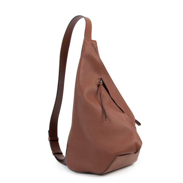 Loewe Anton Brown Pebbled Leather Backpack