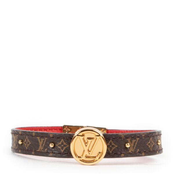 Shop safe online authentic Louis Vuitton Monogram Bracelet  at Labellov.com.