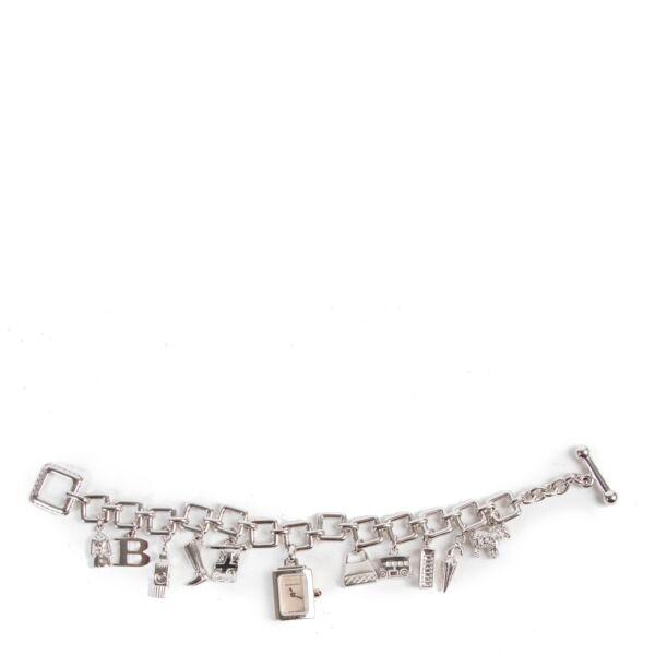 Burberry Silver Charm Bracelet Watch