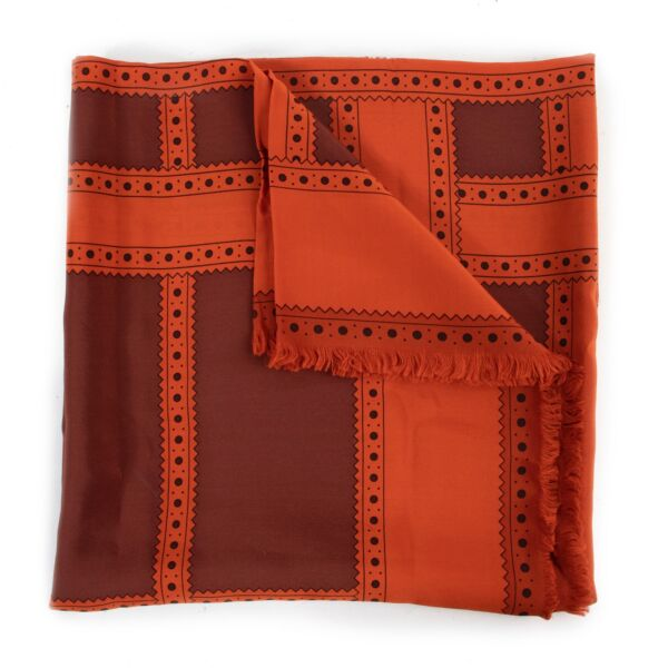 Shop safe online authentic Burberry Orange Scarf at the right price.