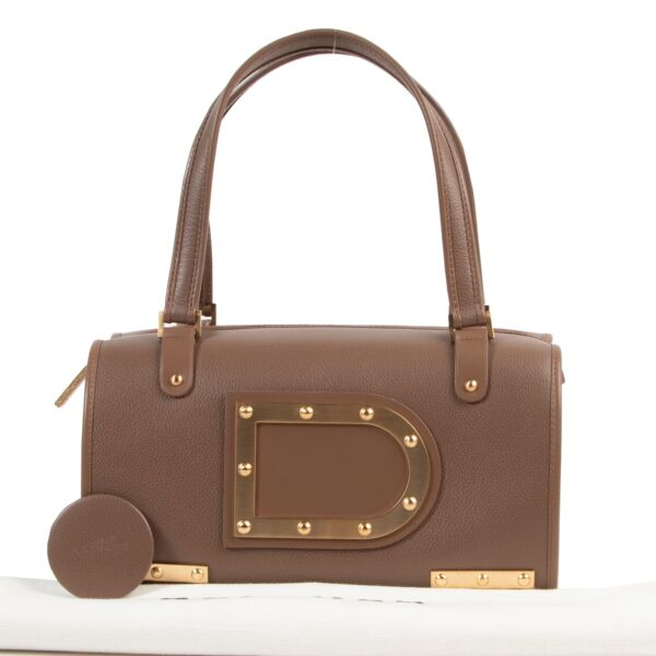 Delvaux Brown Astrid Top Handle Bag