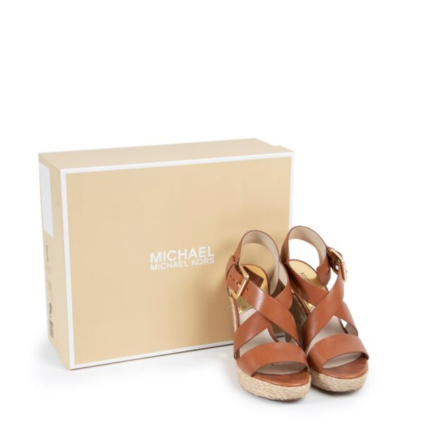 Michael Kors Giovanna Wedge Luggage - Size 36