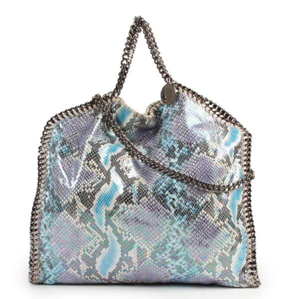 Shop safe online authentic Stella McCartney Multicolor Hologram Falabella Tote Bag