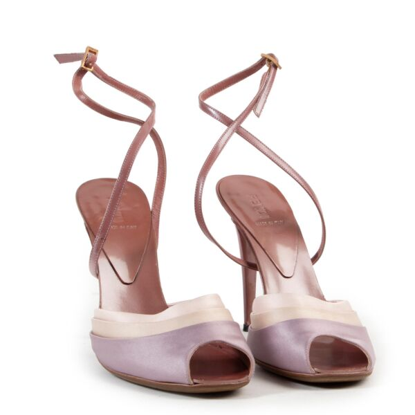 Fendi Pink Silk Pumps - Size 38