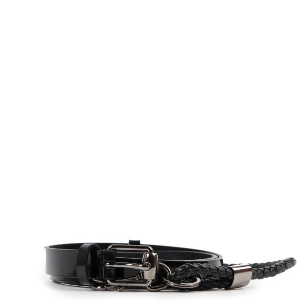 Shop safe online authentic Gucci Black Two Piece Belt in Size 90 at the right price.
