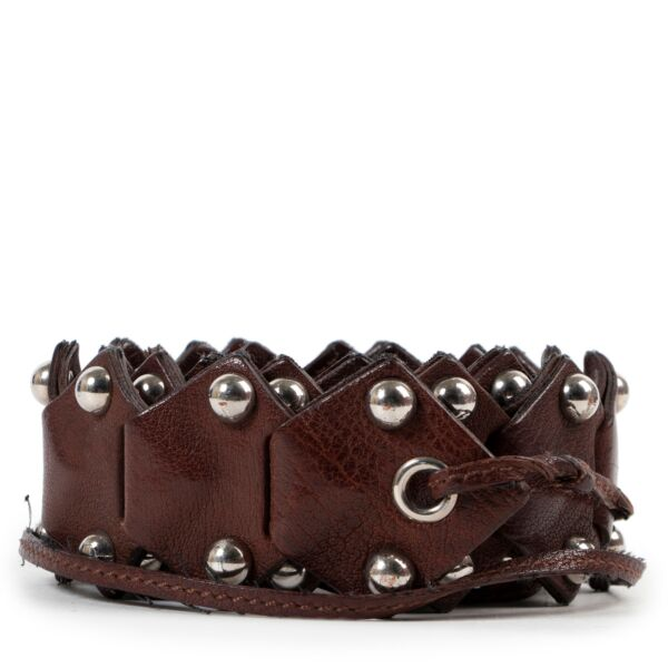 Miu Miu brown leather belt boho style for the best price