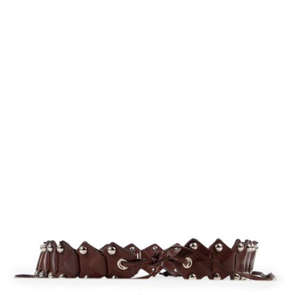 Miu Miu Brown Leather Belt - Size 85