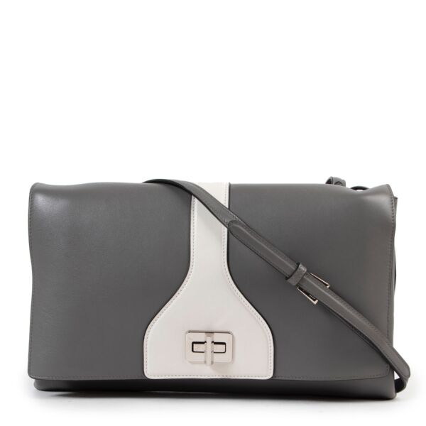 Shop safe online authentic Prada Grey Crossbody Bag at the right price.