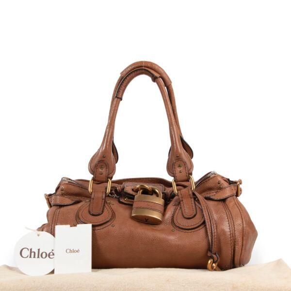 Chloé Brown Paddington Padlock Shoulder Bag
