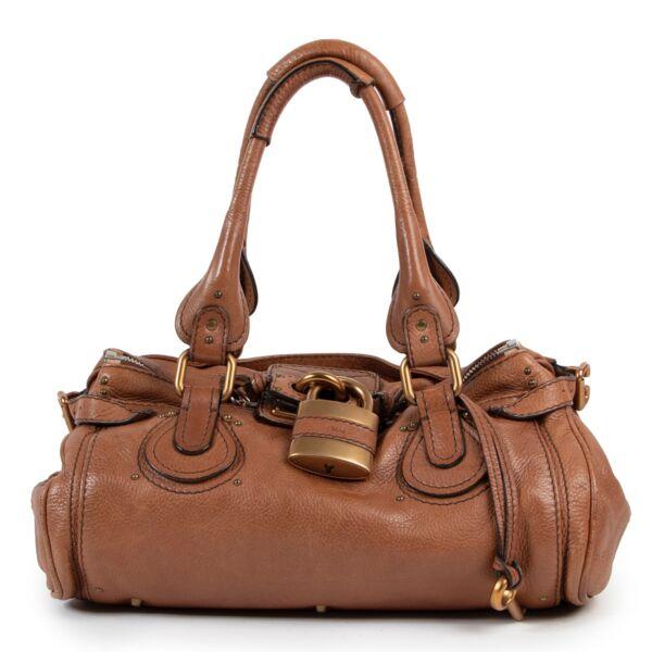 Shop safe online authentic second hand Chloé Brown Paddington Padlock Bag at Labellov.com.