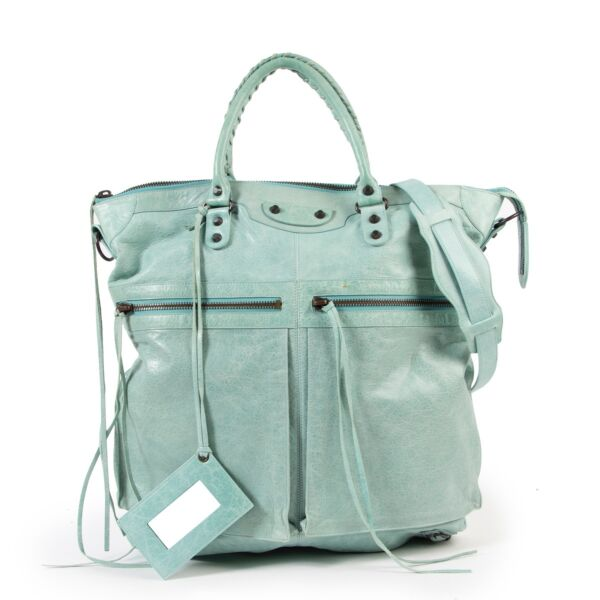 shop safe online voor de beste prijs tweedehands Balenciaga Arena Classic Square S Top Handle Bag