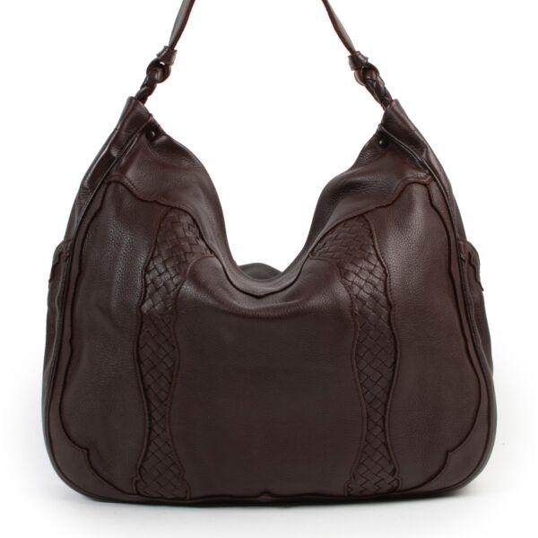 Shop safe online authentic Bottega Veneta Brown Tote Shoulder Bag at Labellov.com.