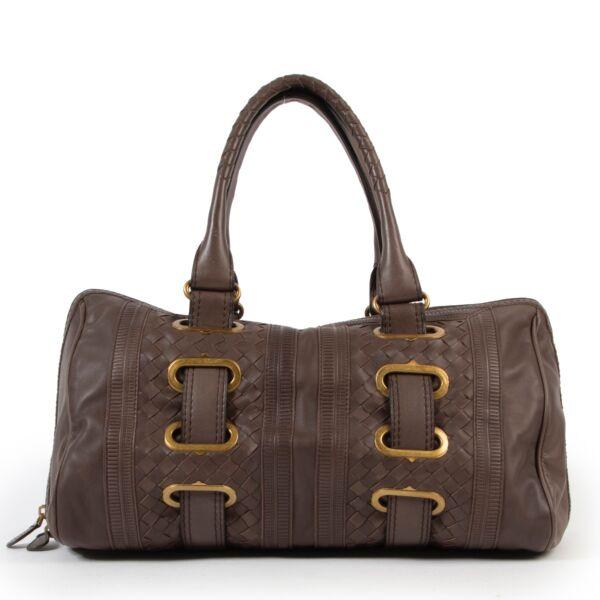 Bottega Veneta Brown Top Handle Bag